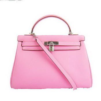 Hermes Kelly 32cm Bags Togo Leather 6108 Pink Silver