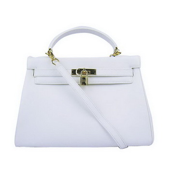 Hermes Kelly 32cm Bags Togo Leather 6108 White Golden