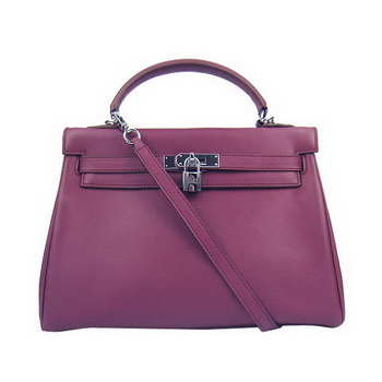 Hermes Kelly 32cm Togo Leather Handbags 6018 Bordeaux Silver