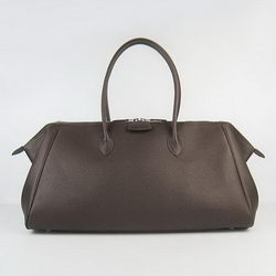 Hermes Jumbo Paris Bombay Bag Dark Coffee