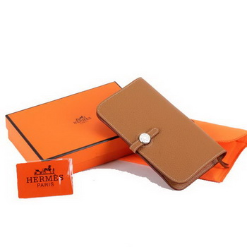 Hermes Dogon Combined Wallets A508 Coffee