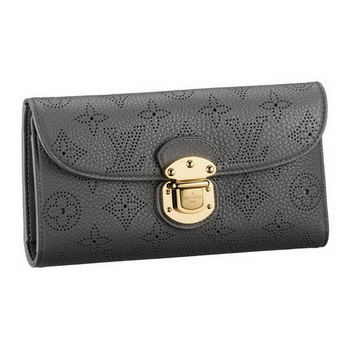 Louis Vuitton M58127 Mahina Leather Amelia Wallet Anthracite