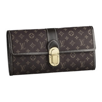 Louis Vuitton M63006 Monogram Idylle Sarah Wallet Fusain