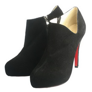 Christian Louboutin Lisse 120mm Ankle Boots Black