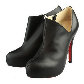 Christian Louboutin Lisse 120mm Lambskin Ankle Boots Black