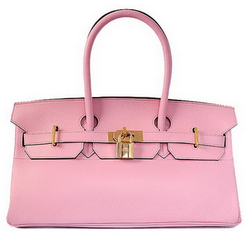 Hermes Birkin 42cm JPG Birkin Togo Leather Bag Pink Gold