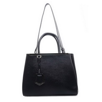 Fashion Fendi 2Jours Original Leather Tote Bag F2552M Black