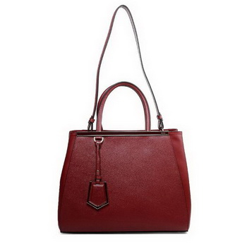 Hot Style Fendi 2Jours Original Leather Tote Bag F2552M Wine