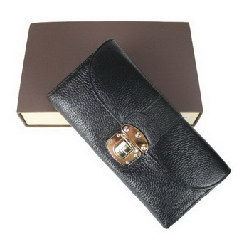 Louis Vuitton Mahina Leather Iris Wallet M58135 Black