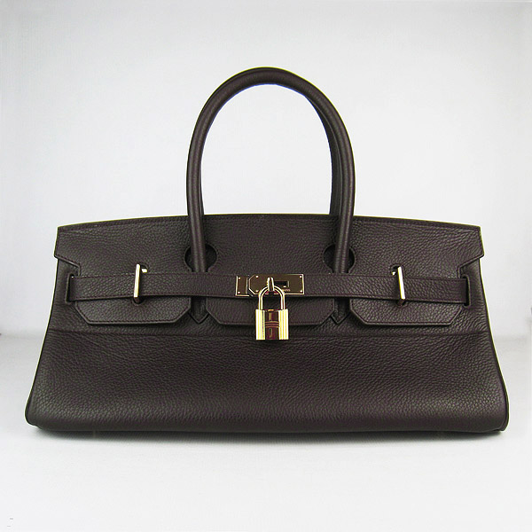 Hermes Birkin 6109 Togo Leather Bag Dark Coffee 42cm Gold