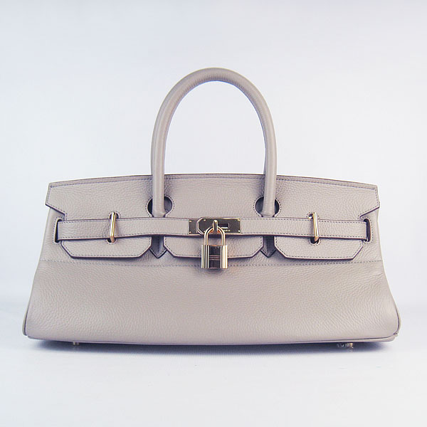 Hermes Birkin 6109 Togo Leather Bag Grey 42cm Gold