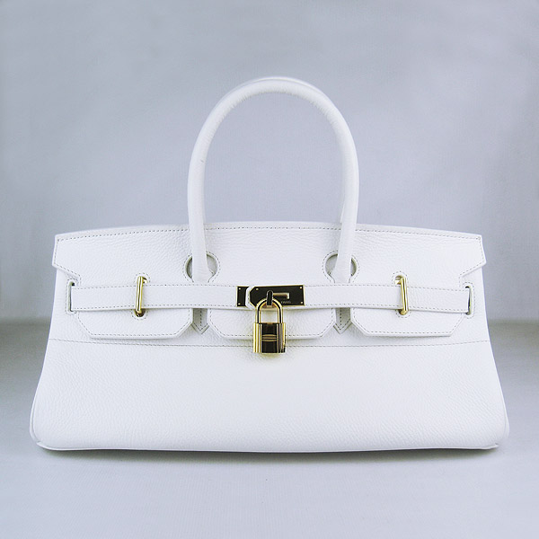Hermes Birkin 6109 Togo Leather Bag White 42cm Gold