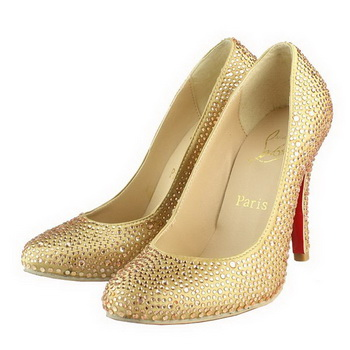Christian Louboutin Glitter Simple 100mm Pump Gold