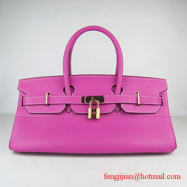 Hermes Birkin 42cm Togo Leather Bag 6109 Peachblow gold padlock
