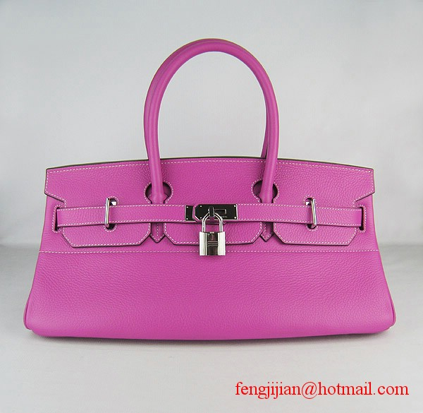 Hermes Birkin 42cm Togo Leather Bag 6109 Peachblow silver padlock