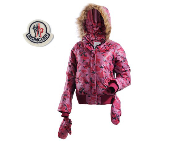 Moncler Branson Womens Down Jacket Light Red