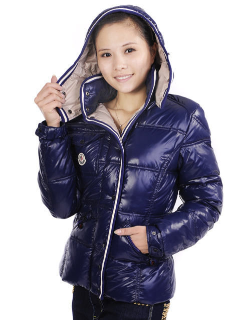 Moncler Quincy Womens Down Jacket Navy